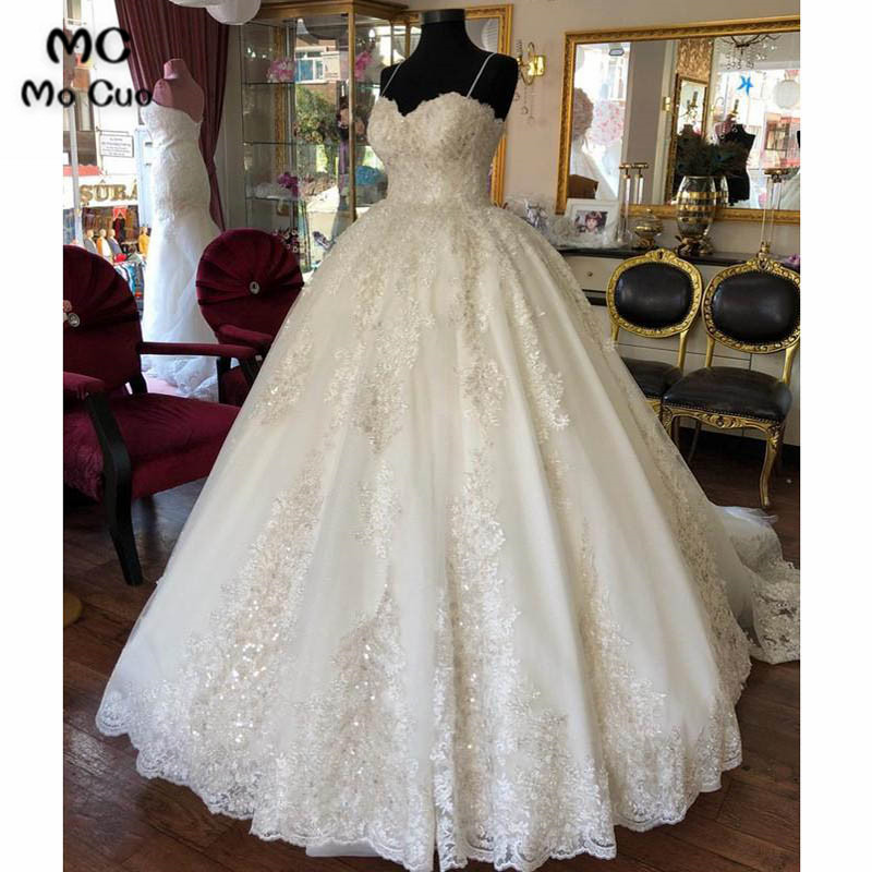 5981ea7ca New 2018 Ball Gown Wedding Dresses Robe de mariage Sweetheart Floor Length  Tulle Spaghetti Straps vestido de noiva Bridal Gowns ~ Perfect Deal July  2019