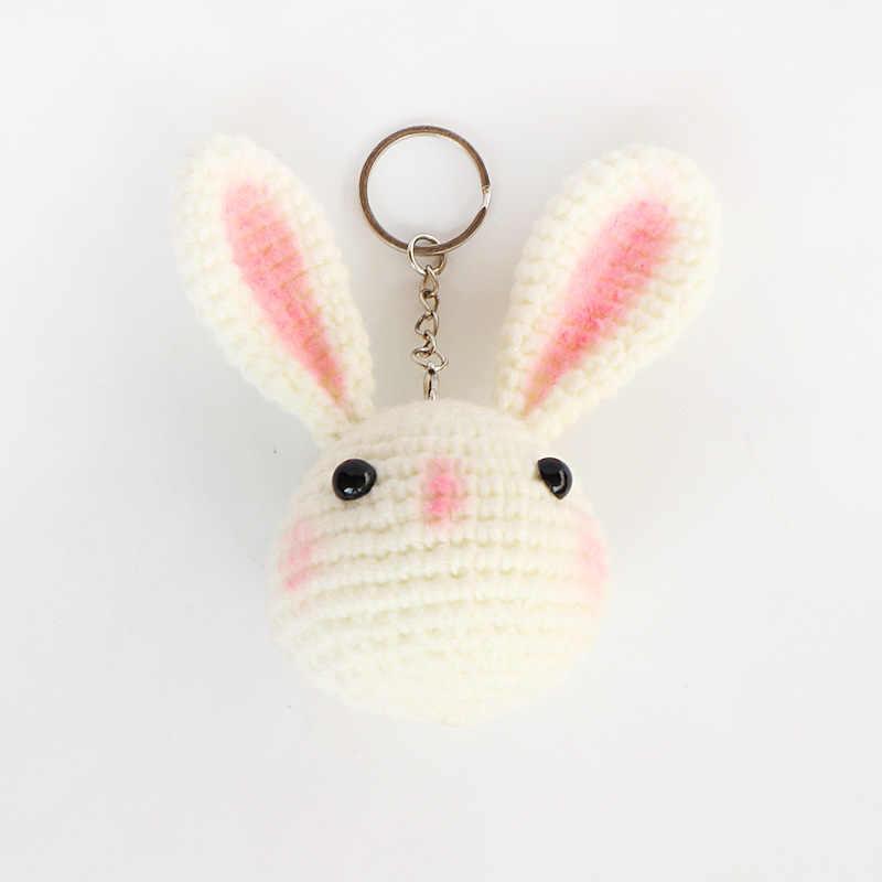 Bán buôn (3 cái/lô) Handmade Móc Đan DIY Thủ Công Thỏ Cho Keychain