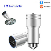 New Handsfree Wireless Bluetooth FM Transmitter Car MP3 Player USB Charging Kit With Emergency Hammer Car