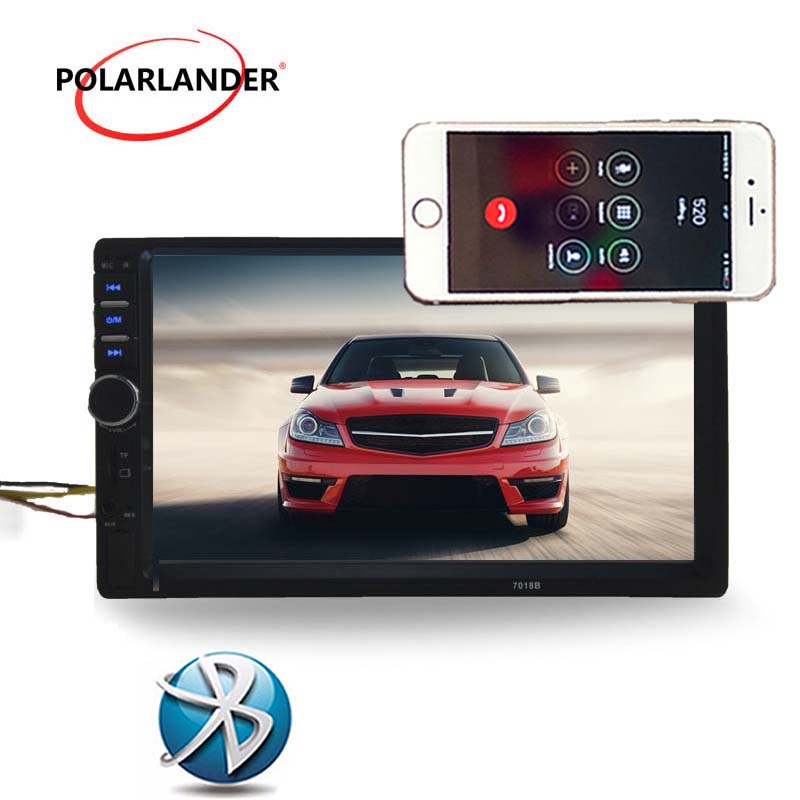 HD 2 Bluetooth for smartphone In Dash Touch Screen DIN TF/USB Universal Dash Stereo 7'' Car MP3 Radio