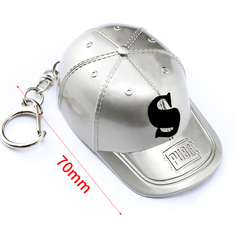 Game Playerunknown's Battlegrounds 3D baseball cap Keychain PUBG Keyring saucepan Pendant funny kids Toy
