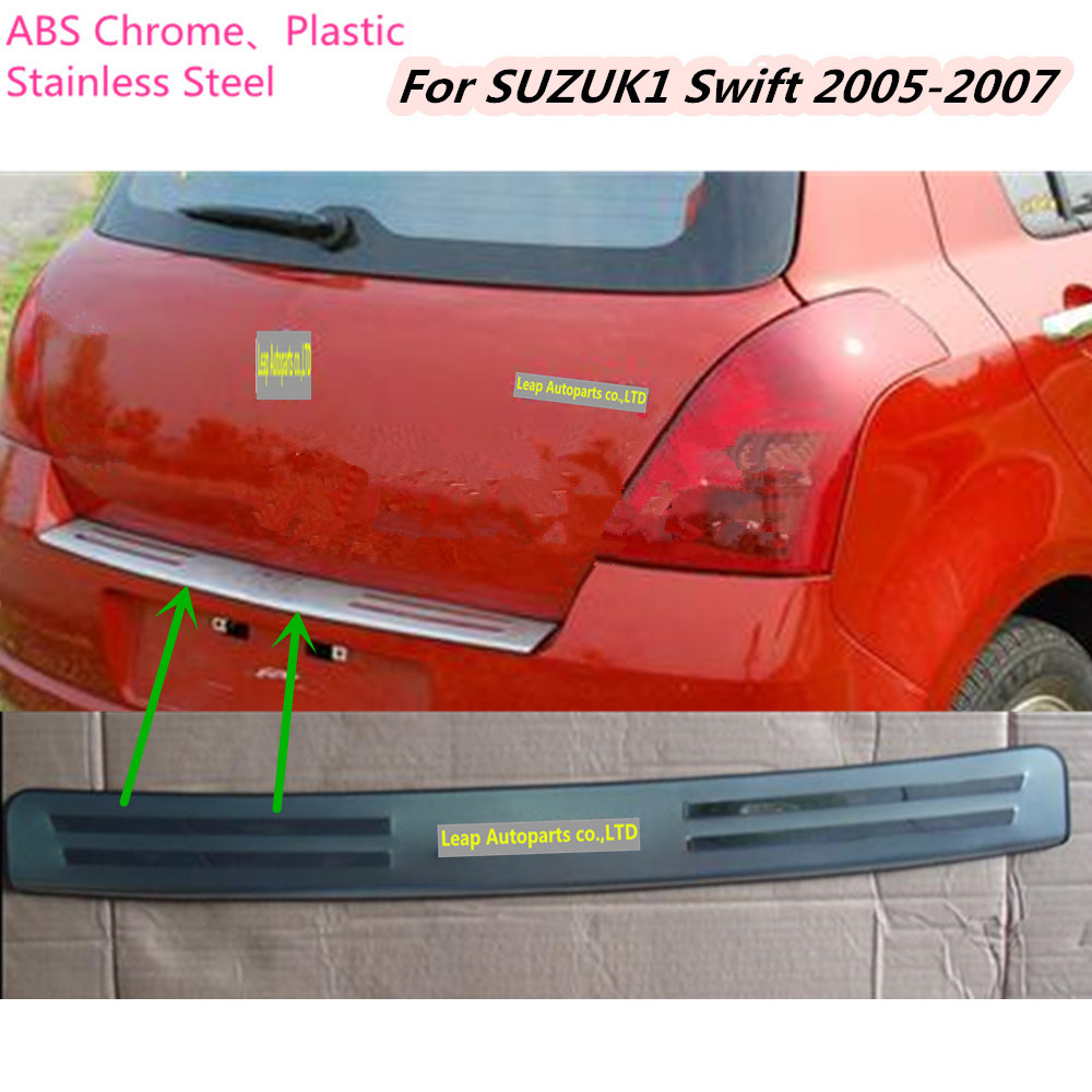 Top sale For Suzuki Swift 2005 2006 2007 Stainless Steel Rear Back Pedal Door Scuff Plate Frame outside external Threshold 1pcs car cover stainless steel outside rear bumper strip trim plate lamp frame threshold pedal 1pcs for toyota corolla 2008 2010