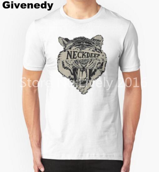 6bc767454985 Pop punk Cou Profonde Logo Hommes et Femmes Personnalisé Impression Drôle T  Shirts Design T Shirt
