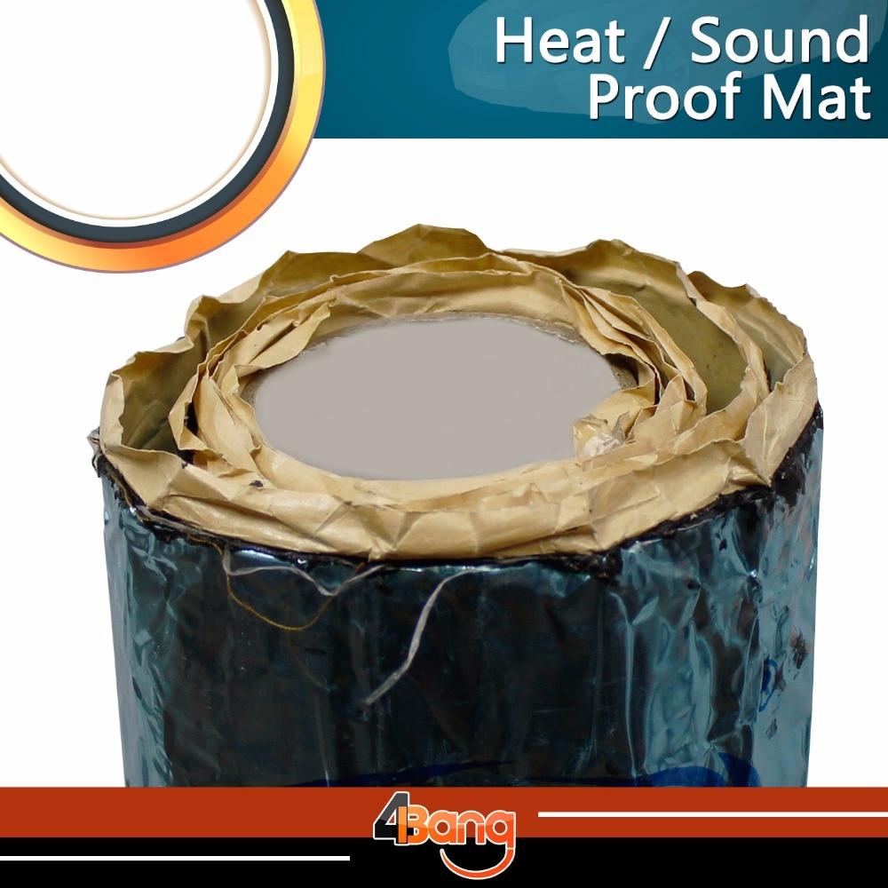 Voiture-style 200*100 cm Kit tueur de chaleur isolation phonique auto-adhésif silencieux silencieux bouclier Mat coton feuille portes/toit
