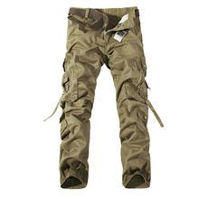 f90ccfbfe0 2018 nuevo ejército militar camuflaje guardapolvos bolsas pantalones yardas  grandes hombres Camo Combat pantalones de trabajo tr.