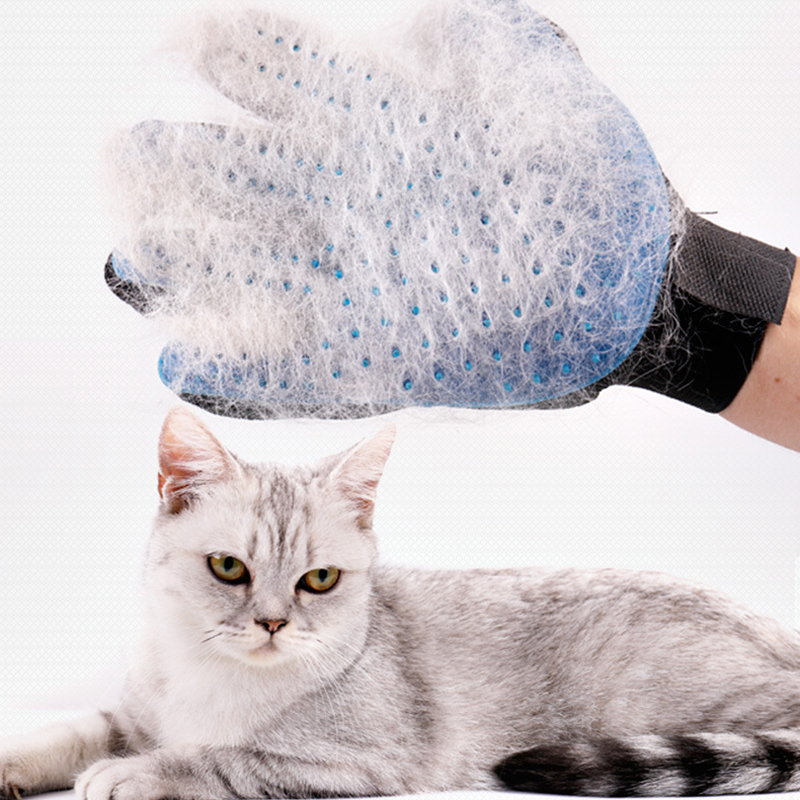 Silicone Pet Grooming Glove For Cats Hair Brush Combs Cleaning Deshedding Pet Soft Products Dogs Care Blue Hairbrush For Animals