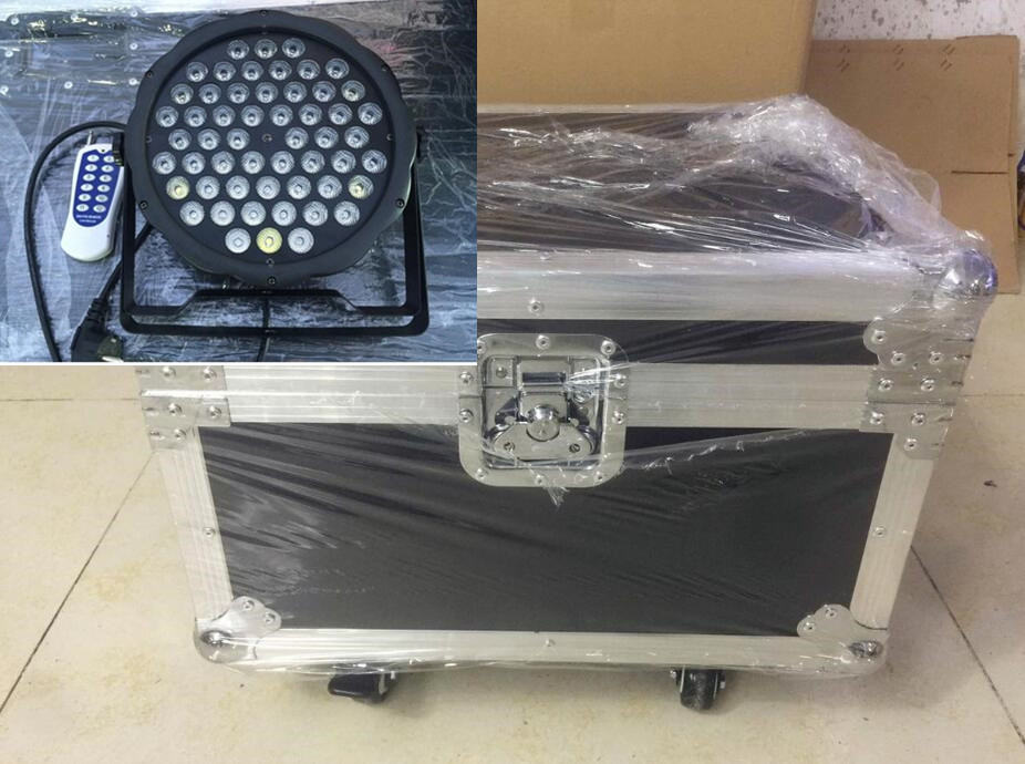 6pcs Wireless remote control 54x3W+ flightcase RGBW mini LED Flat Par Wash Light For Event,Disco Party DJ dmx light disco light 新世纪文学群落与诗性前沿