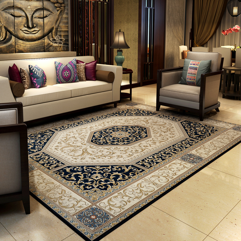 Traditional Chinese Vintage Rugs And Carpets For Home Living Room Classic Bedroom Floor Mat Large Study