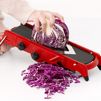 Creative Red Slicer Vegetable Fruit Cutter with Stainless Steel Blade Manual Potato Peeler Carrot Grater Kitchen Tools Gadgets