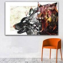 GOODECOR настенный художественный холст настенный принт плакаты и принты абстракция животное холст живопись для гостиной домашний диван картина
