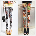 Summer And Autumn Vintage Milk Satin Print Slim Women's Leggings Women 9 Colors Ankle Length Fitness Sexy Legging Leggins Pants