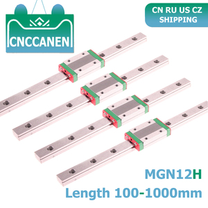 CNC Parts MGN12 100 350 450 500 800 1000mm Miniature Linear Rail Slide 4PCS MGN Linear Guide + 4PCS MGN12H Carriage 3D Printer