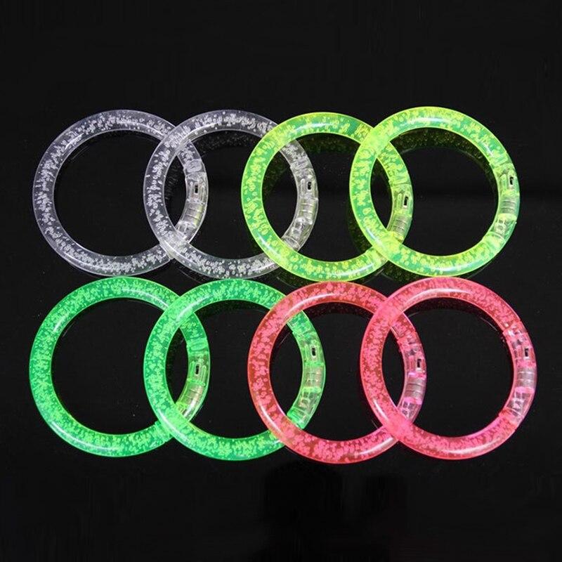 Bangles Light Up Bracelet Acrylic Flash Led Light Emitting Electronic Bracelet Luminous Glowing Bracelet Toys For Christmas Tslm1 Latest Technology