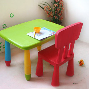 Plastic tables and chairs set complete set of bb child combination tables and chairs stool baby & Plastic tables and chairs set complete set of bb child combination ...