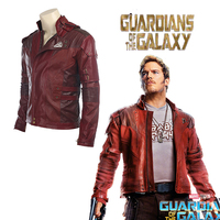 Guardians of the Galaxy 2 Star Lord Cosplay Faux Leather polyester cotton Star Lord Jacket Short Coat Halloween Cosplay Costume