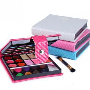 Image 2 - Cosmetics Shimmer Pearl Eyeshadow Palette Natural 32 Colors Makeup Up Modification Lip Gloss Blush Set Brush Button Bag