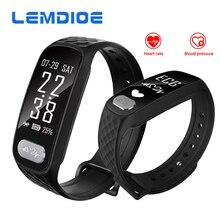 Lemdioe B20 ЭКГ сердечного ритма артериального давления Bluetooth Smart Band Фитнес Браслет Смарт трекер часы