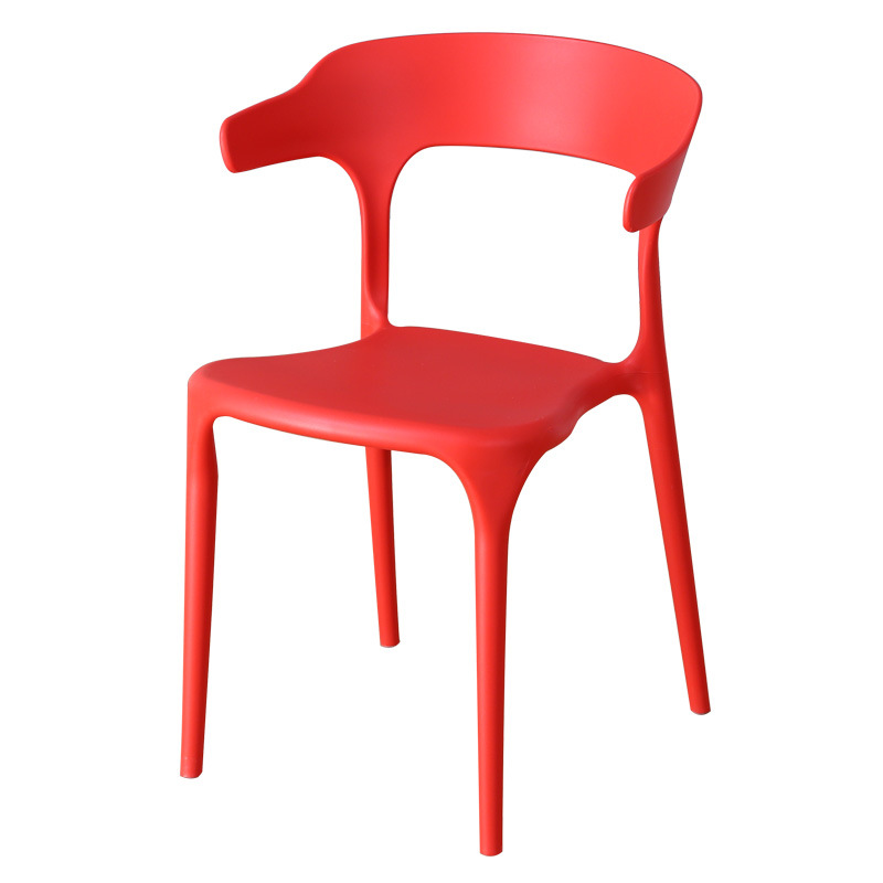 Nordic PP Plastic Brief Party Chairs Creative Casual Backrest  Cafe Chair Modern Fashion Office Chair Commercial Milk Tea Shop