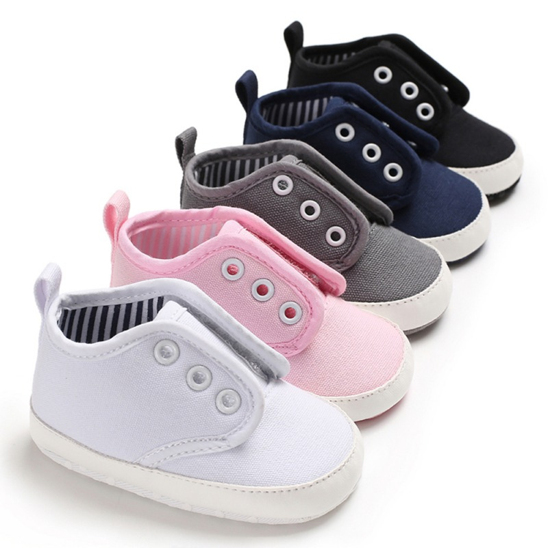 Canvas Baby Shoes Newborn Autumn Canvas Fashion Baby Boy Girls Shoes First Walkers Soft Cotton Sports Shoes For Kids