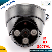 HD 800TVL CCTV Camera 3 Array LEDS IR 1 3 CCD 3 6mm 12mm Lens Optional