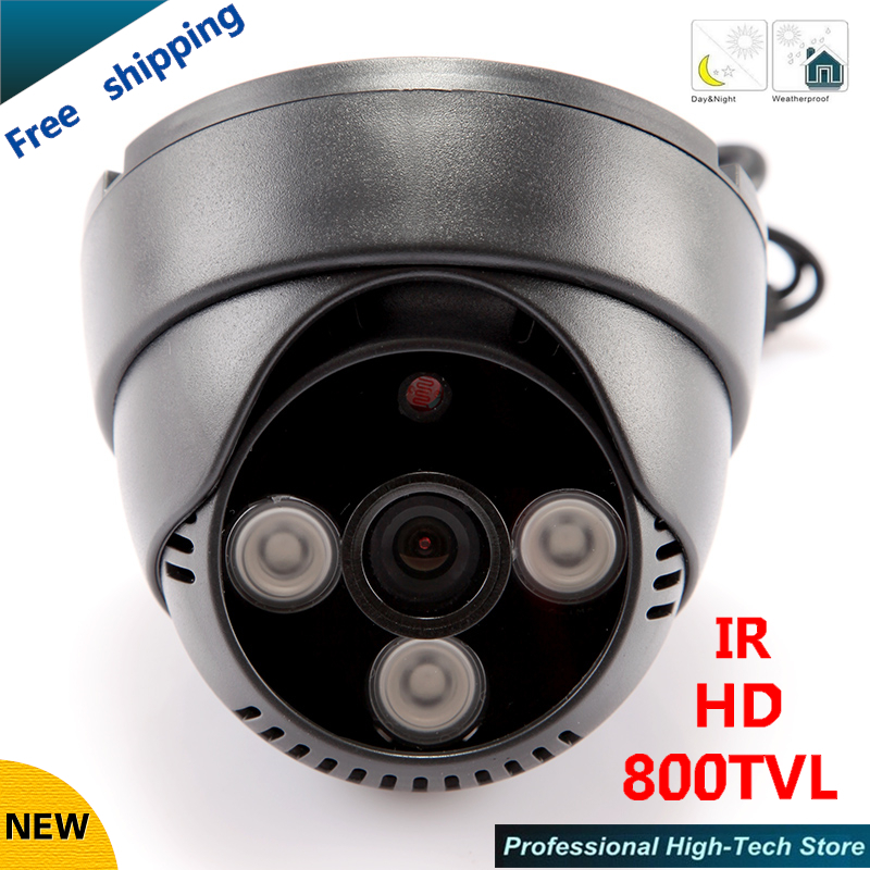 HD 800TVL CCTV Camera 3 Array LEDS IR 1/3 CCD 3.6mm-12mm Lens Optional Indoor Security Camera CCTV System Free shipping free shipping sony ccd hd 700tvl cctv camera 1 3 video surveillance security camera ar bq700 with 24 leds