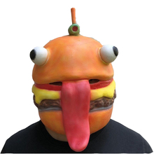 Game Fortnite The Hamburger Beef Boss Mask battle royale Halloween Chrismas Xmas Cosplay Party Ball Costumes Latex Full Face