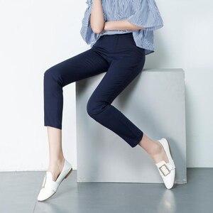Image 2 - קוריאני אופנה מכנסיים נשים אביב חמוד 20 סוכריות צבעים מכנסי עיפרון אלגנטי בסיסי למתוח גדול גודל אמא מכנסיים חותלות מכנסיים