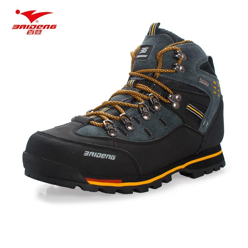 Для мужчин Треккинговые ботинки Водонепроницаемый кожа Обувь восхождение & Рыбная ловля Обувь Новые Популярные Уличная обувь