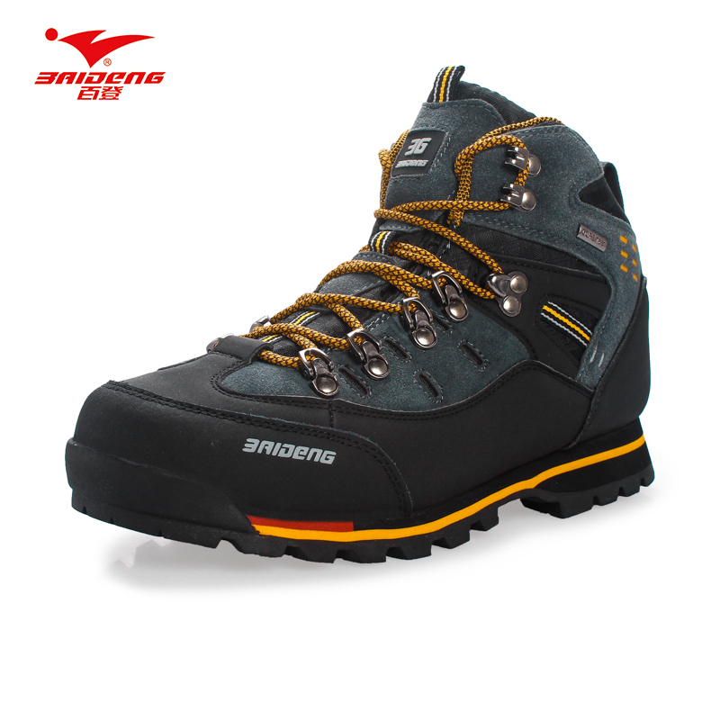 Men Hiking Shoes Waterproof leather Shoes Climbing font b Fishing b font Shoes New popular Outdoor