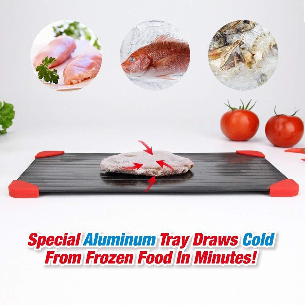 Fast Defrosting Tray Thaw Frozen Food Meat Fruit Quick Defrost Plate Board