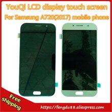 100% test Pour Samsung GALAXY A7 2017 A720S A720F A720D Écran lcd Tactile écran Numériseur Assemblée Verre Livraison Gratuite