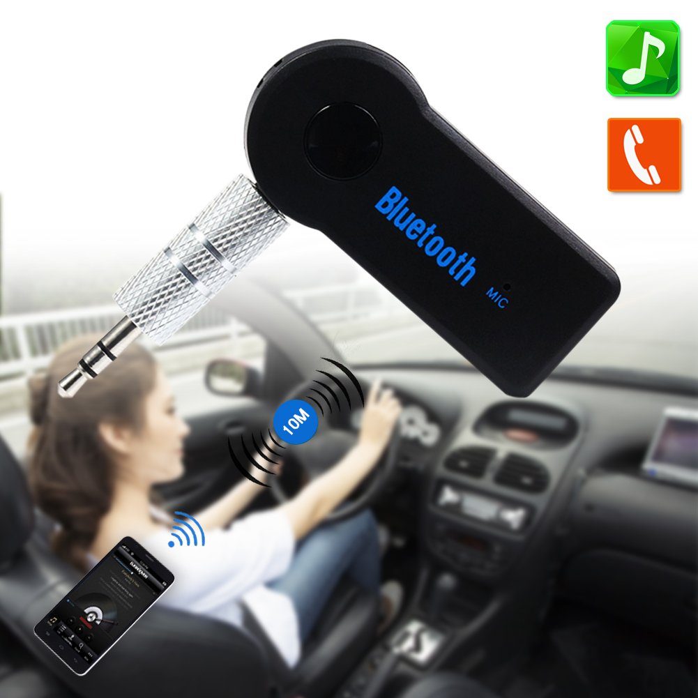 Wireless Bluetooth 3 5mm AUX Audio Stereo Music Home Car Receiver Adapter Mic For Phone MP3