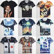 2015 new arrival fashion women/men dsq t shirt 3d rihanna/hip hop print t-shirt harajuku short sleeve tshirt nk casual-shirt