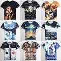 2015 nova chegada moda mulheres/homens dsq camiseta 3d rihanna/hip hop impressão t-shirt de manga curta harajuku camiseta nk casual-shirt