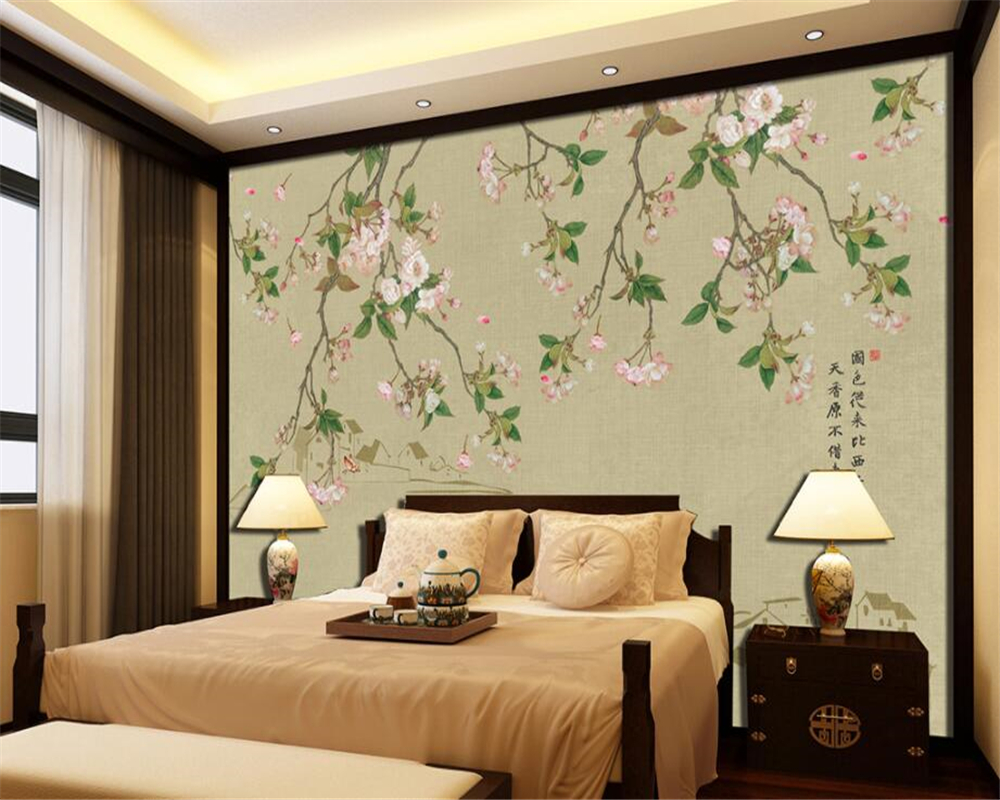 Customized Hand Painted flower Birds Photo Wallpaper Modern Home Living Room Room Background Decorative 3d wallpaper beibehang