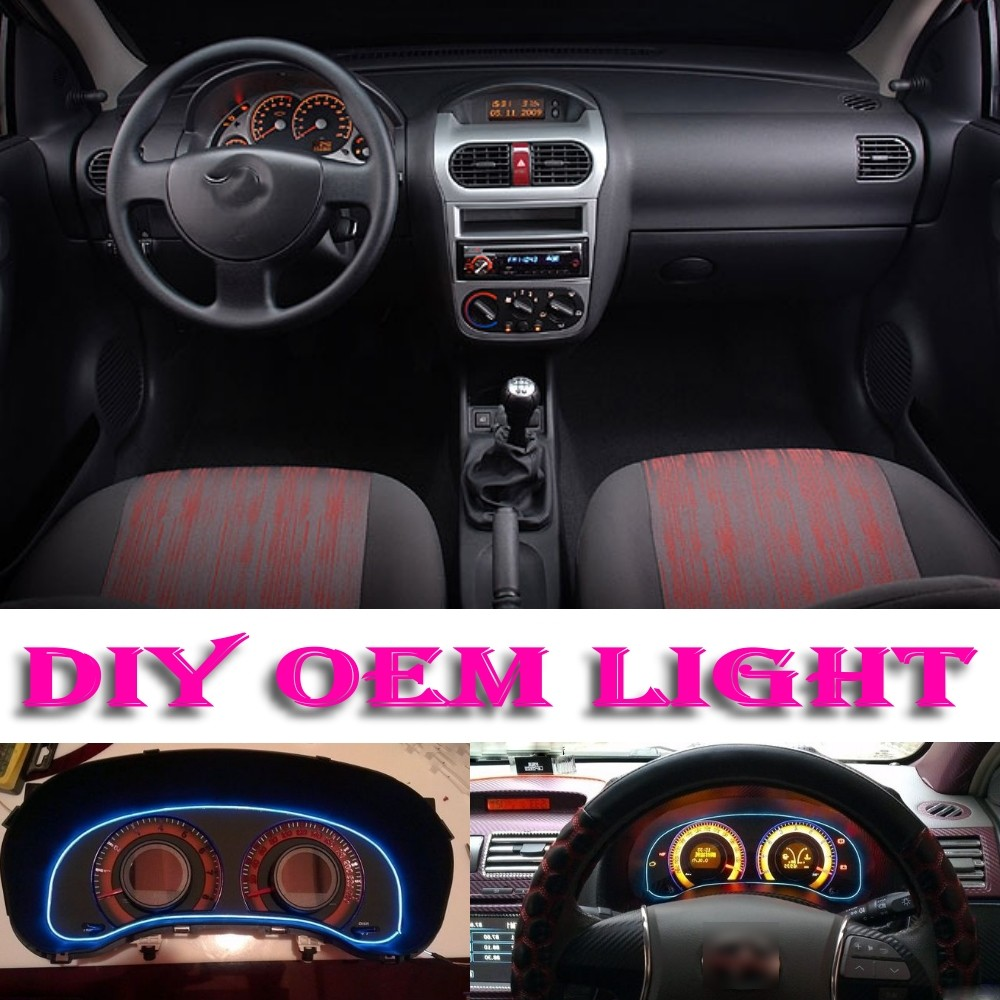 Car Atmosphere Light Flexible Neon Light El Wire Interior Light