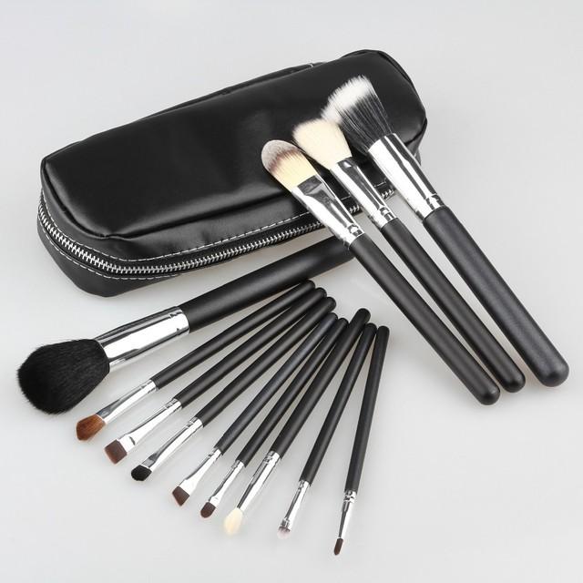 Venta al por mayor Profesional 8 set/lot Nuevo 12 unids Brochas de Cosmética Set de Maquillaje con 2 Case Kit Bolsa