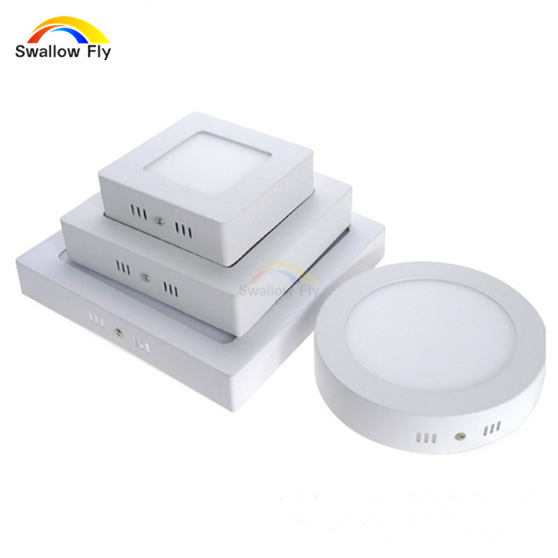 6w 12w 18w no cut round square led surface mounted panel light downlight ligh. Black Bedroom Furniture Sets. Home Design Ideas
