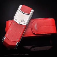 Business Style Luxury Genuine Leather Flip Case For Vertu Signature S CEO 168 Mobile Phone Full Protective Cover Red YBSV4