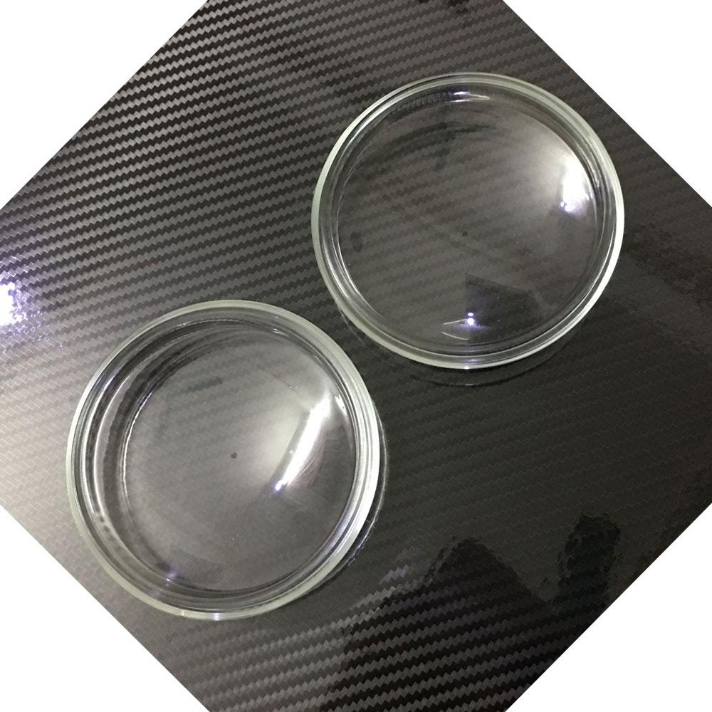 2pcs 90mm Round Diameter Tempered Glass Anti fog Glass Fog Lamps Lights For Renault Fluence L30