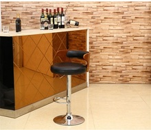 Furniture market PU leather lift chair black white color free shipping hotel restaurant bar stool Barber shop chair