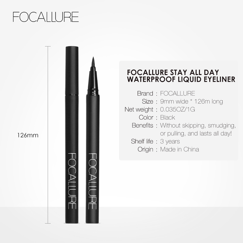 Image 5 - FOCALLURE 24 Hours Long Lasting Liquid Eyeliner Pen Professional Eye Liner Pencil Dry Fast Eyeliner-in Eyeliner from Beauty & Health