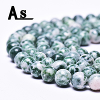 Asingeloo Natural Tree Agate Gemstone Round Loose Beads for Jewelry Making DIY Bracelet Necklace 1 Strand 15.5""