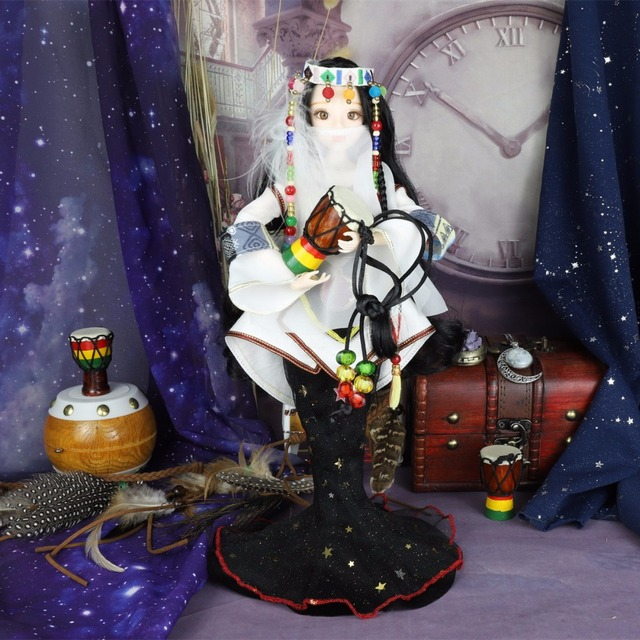 TAROT CARD Major Arcana The high-priestess joint body doll black hair 34cm east barbi 1