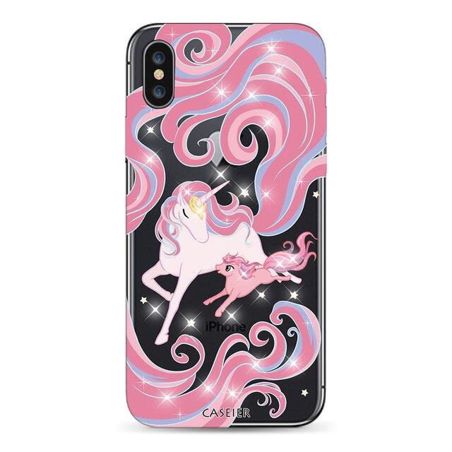 CASEIER Glitter Unicorn Phone Case For