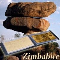 Whole Set Zimbabwe Paper Money 4pcs 99.9% Normal Gold Foil Bnaknote ZWD 10,20,50,100 Note Bills In Leather Case