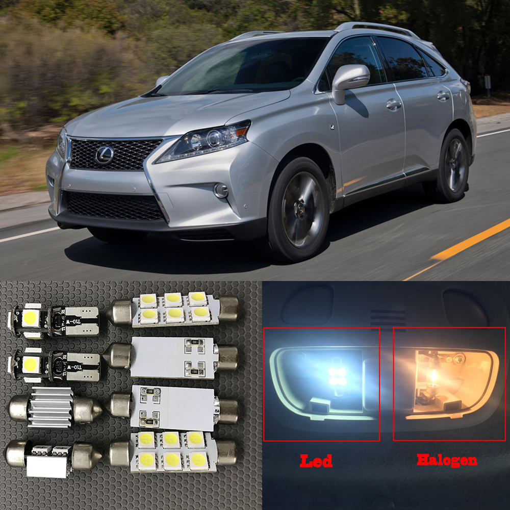 14pcs White Led Map Dome Step Courtesy Lights Interior Trunk Cargo 2005 Lexus Rx330 Kit For 2010 2013 Rx350 Rx450h 12v Canbus Car Styling In Signal Lamp From
