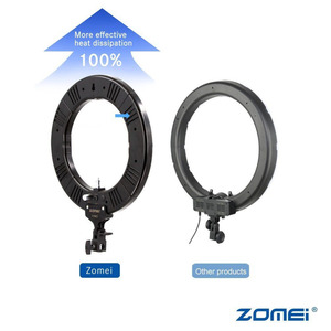 "Image 4 - ZOMEI 14 ""ניתן לעמעום LED סטודיו טבעת אור צילום תאורה איפור מנורת עבור מצלמה תמונה טלפון Selfie Youtube וידאו ירי"