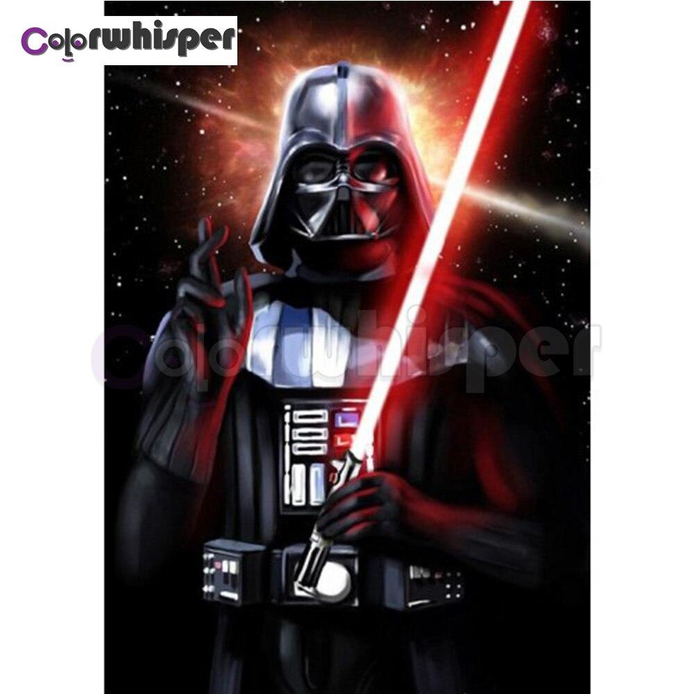 Diamante pintura 5D completa/cuadrado/Ronda estrella Wars Anakin Skywalker personaje de la película diamante pintura bordado Cruz puntada Z140
