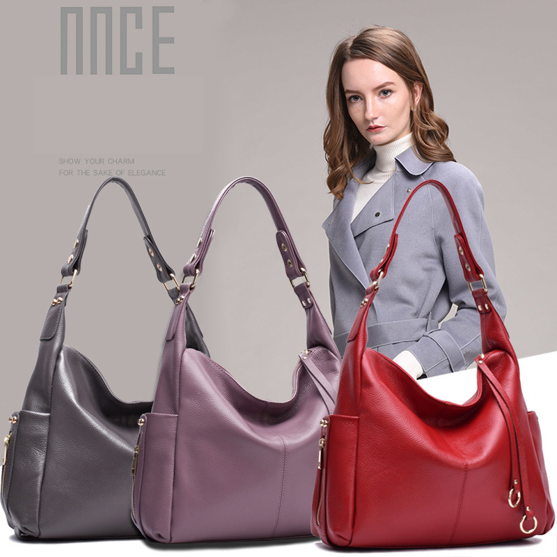 Women Shoulder Bags Genuine Leather Large Capacity Luxury Handbags Tote Bags Design Messenger Bag Casual Crossbody Bag Female women handbags tote bags female genuine leather shoulder bags large capacity office crossbody bag shopping casual handbag sac